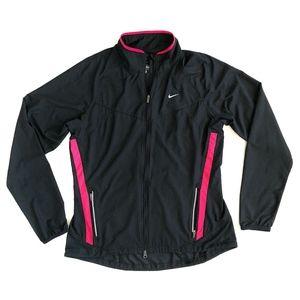 Nike Golf Windbraker Zip Up Jacket Black Pink